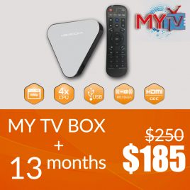 MYTV TV BOX WITH 12 MONTHS +1 MONTH SUBSCRIPTION FREE
