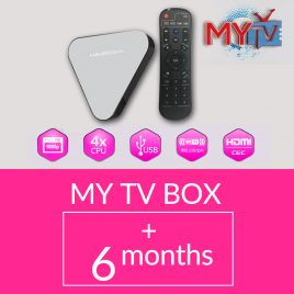 MYTV TV BOX WITH 6 MONTHS SUBSCRIPTION