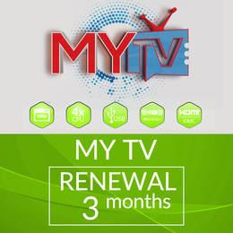 3 MONTHS MYTV SUBSCRIPTION RENEWAL